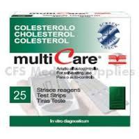 TEST COLESTEROLEMIA MULTICARE COLETEROLO IN STRISCE CHIP 25 PEZZI - La tua farmacia online