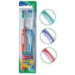 GUM SUPER TIP 463 COMPACT SPAZZOLINO MEDIO BONUS PACK 2 PEZZI - Farmacento