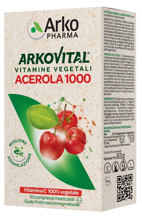 ACEROLA 30CPR MASTICABILE - Farmacento