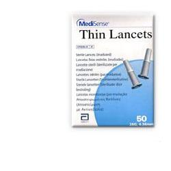 LANCETTE PUNGIDITO MEDISENSE THIN 28 GAUGE 50 PEZZI - Farmastar.it