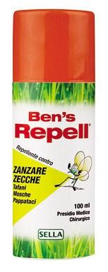 Bens Repellente Insettorepellente 100 ml - Farmalilla