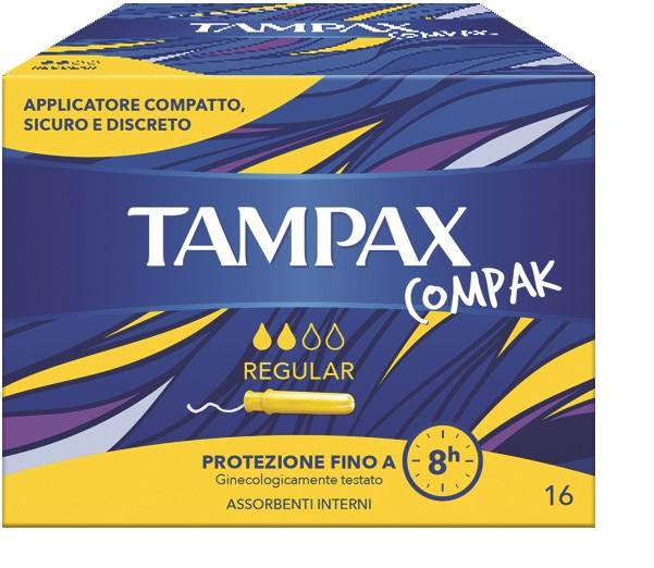 TAMPAX COMPAK REGULAR 16 PEZZI - Farmastar.it