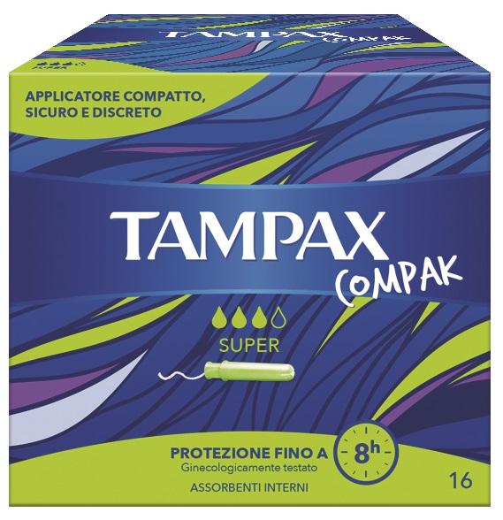 TAMPAX COMPAK SUPER 16 PEZZI - La tua farmacia online