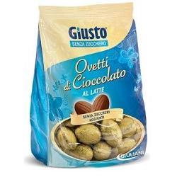 Giusto Ovetti di Cioccolato al Latte Senza Zucchero 250 g - La tua farmacia online