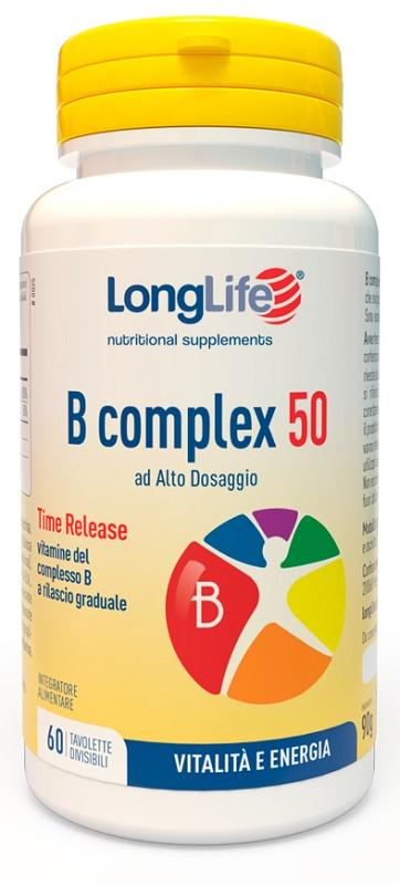 LONGLIFE B COMPLEX 50 T/R 60 TAVOLETTE - Farmaciaempatica.it