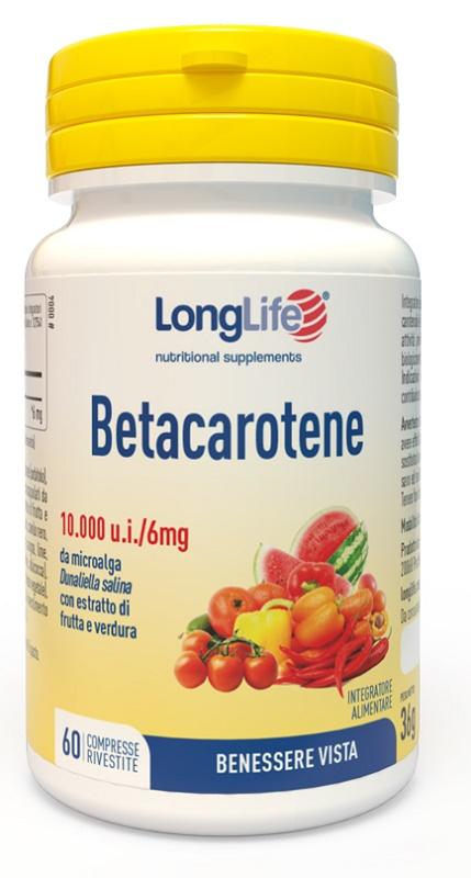 LONGLIFE BETACAROTENE 60 COMPRESSE - La tua farmacia online