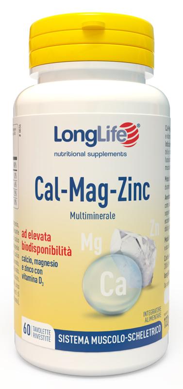 LONGLIFE CALCIO MAGNESIO ZINCO 60 TAVOLETTE - Zfarmacia