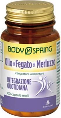 BODY SPRING OLIO MERLUZZO 100 CAPSULE - Zfarmacia