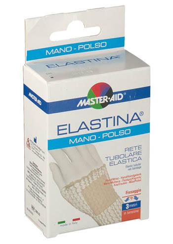 RETE TUBOLARE ELASTICA IPOALLERGENICA MASTER-AID ELASTINA MANO/POLSO 3 MT IN TENSIONE CALIBRO 3 CM - Antica Farmacia Del Lago