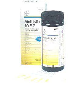STRISCIA REATTIVA MULTITEST MULTISTIX 10SG 25 PEZZI ARTICOLO 2292C - Farmastar.it