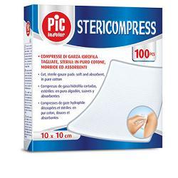 GARZA COMPRESSA IDROFILA PIC STERICOMPRESS 10X10 CM 4 BUSTE  25 PEZZI - FARMAPRIME