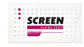 ALCOL TEST MONOUSO RILEVA ALCOL NELL'ORGANISMO TRAMITE SALIVA SCREEN ALCOL TEST - FARMAEMPORIO