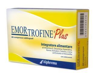 EMORTROFINE PLUS 40 COMPRESSE - Farmacia 33
