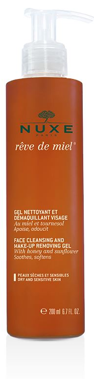 NUXE REVE DE MIEL GEL NETTOYANT ET DEMAQUILLANT VISAGE 200 ML - Farmabravo.it