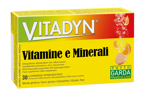 VITADYN MULTIMINERALE MULTIVITAMINICO 30 COMPRESSE EFFERVESCENTI - Parafarmaciabenessere.it