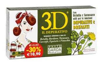 3D DRENA DEPURA 30 COMPRESSE scad 06/2019 - Farmacento