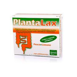 Sofar Plantalax Integratore Gonfiore Addominale Gusto Pesca Limone 20 Bustine - La tua farmacia online