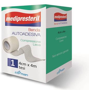 BENDA ADESIVA MEDIPRESTERIL 4X400CM - Antica Farmacia Del Lago
