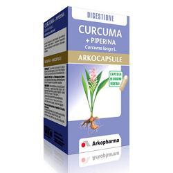 ArkoPharma Curcuma + Piperina Arkocapsule Integratore Funzionalità Digestive 45 Capsule - La tua farmacia online