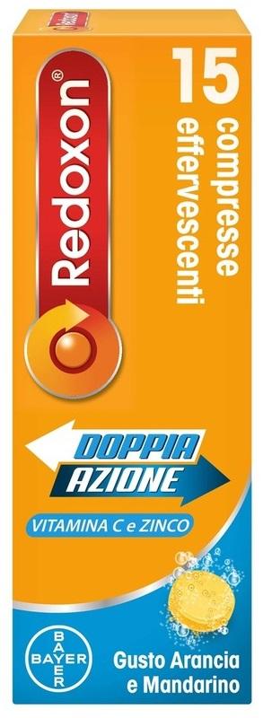REDOXON DOPPIA AZIONE 15 COMPRESSE EFFERVESCENTI VITAMINA C ZINCO ARANCIA E MANDARINO 45,78 G - La tua farmacia online