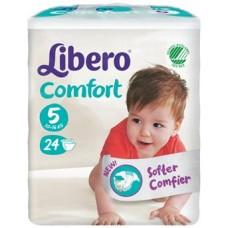 LIBERO COMFORT 5 PANNOLINO PER BAMBINO TAGLIA 10-16KG 24 PEZZI - FARMAEMPORIO