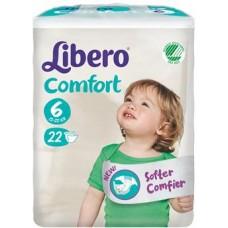 LIBERO COMFORT 6 PANNOLINO PER BAMBINO TAGLIA 12-22 KG 22 PEZZI - FARMAEMPORIO