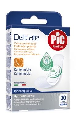 CEROTTO PIC DELICATE 19X72 MM ANTIBATTERICO 20 PEZZI - Farmacia 33