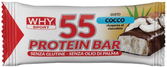 55 PROTEIN BARRETTA COCCO/CIOCCOLATO 55 G - FARMAEMPORIO