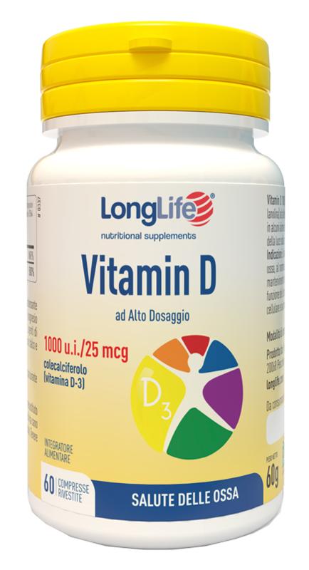 LONGLIFE VITAMINA D3 1000UI 60 COMPRESSE - La tua farmacia online