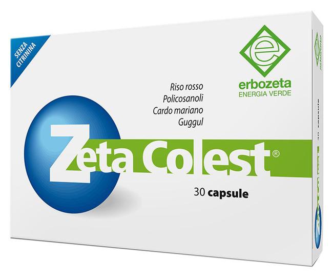 ERBOZETA ZETA COLEST INTEGRATORE ALIMENTARE DEPURATIVO 30 CAPSULE - Farmastar.it