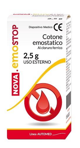Nova EmoStop Cotone Emostatico Al Cloruro Ferrico 2.5 g - La tua farmacia online