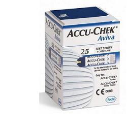STRISCE MISURAZIONE GLICEMIA ACCU-CHEK AVIVA BRK RETAIL 25 PEZZI - Farmacia 33