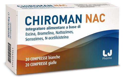 CHIROMAN NAC 20 COMPRESSE + 20 CAPSULE - Farmacia 33