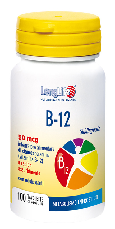 LONGLIFE B12 50MCG SUBLINGUALE 100 TAVOLETTE - Zfarmacia