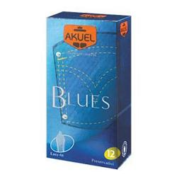 PROFILATTICO ANSELL AKUEL MANIX BLUES B 12 PEZZI - Farmacento