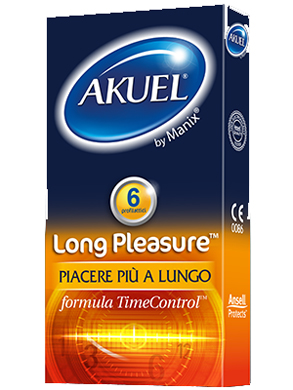 PROFILATTICO ANSELL AKUEL BY MANIX LONG PLEASURE B 6 PEZZI - Farmacento