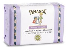 L'AMANDE MARSEILLE SAPONE VEGETALE MALVA/CALENDULA 200 GRAMMI - La tua farmacia online