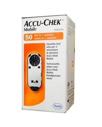 STRISCE MISURAZIONE GLICEMIA ACCU-CHEK MOBILE 50 TEST MIC 2 - Farmacento