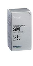 TEST STRIPS PER MISURAZIONE GLICEMIA GLUCOCARD SM 25 PEZZI - Farmacento