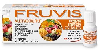 FRUVIS MULTI-VEGETALFRUIT PRONTA ENERGIA E VITALITA' 12 FLA CONCINI DA 10 ML - Farmacento