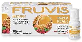 FRUVIS MULTI-FRUIT PAPPA REALE 12 FLACONCINI DA 10 ML - Farmacento