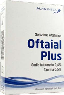 SOLUZIONE OFTALMICA OFTAIAL PLUS ACIDO IALURONICO 0,4% E TAURINA 15 FLACONCINI RICHIUDIBILI DA 0,6 ML - Farmaciasconti.it