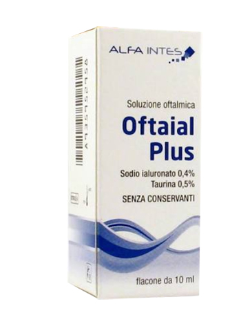 SOLUZIONE OFTALMICA OFTAIAL PLUS ACIDO IALURONICO 0,4% E TAURINA 10ML - Farmaciasconti.it
