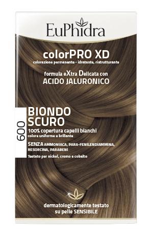 EUPHIDRA COLORPRO XD 600 BIONDO SCURO GEL COLORANTE CAPELLI IN FLACONE + ATTIVANTE + BALSAMO + GUANTI - Farmaciasconti.it