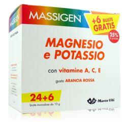 MASSIGEN MAGNESIO E POTASSIO IN BUSTINA CON ASTUCCIO 30 bust + 6 bust - Zfarmacia
