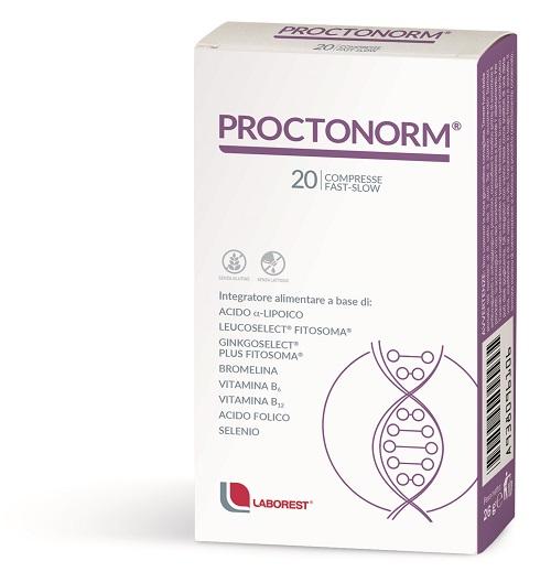 PROCTONORM 20 COMPRESSE - Zfarmacia