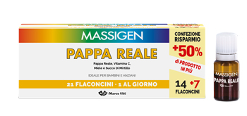 MASSIGEN PAPPA REALE 21 FLACONCINI DA 10 ML - Zfarmacia
