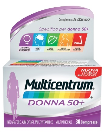 MULTICENTRUM DONNA 50+ 30 COMPRESSE - Zfarmacia