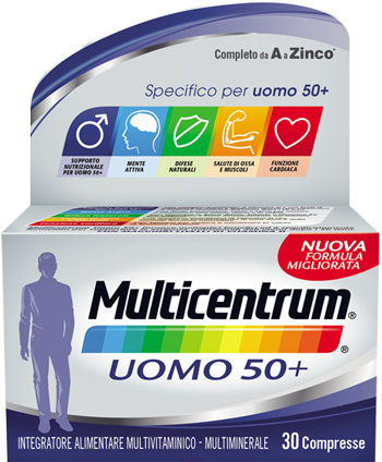 MULTICENTRUM UOMO 50+ 30 COMPRESSE - Farmamille