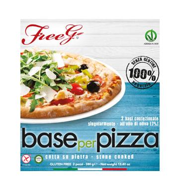 BASE PIZZA SENZA GLUTINE FREEG 2 PEZZI 380 G - FARMAEMPORIO
